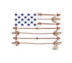 arrows USA flag SVG CUT file American Flag svg Fourth of July svg 4th of July svg bundle, rustic flag svg for t-shirt silhouette cut file by DDbyArtsyWalls on Etsy