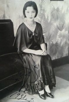 Minami Eiko 南栄子 (1909-year of death unknown) actress autograph from the avant-garde movie Kurutta ippeeji 狂った一頁 (A page of madness) - Japan - September 1931 Source Twitter @oldpicture1900