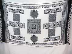 white black Celtic Knot Sarongs Altar Clothes swimsuit cover up $5.25 - http://www.wholesalesarong.com/blog/white-black-celtic-knot-sarongs-altar-clothes-swimsuit-cover-up-5-25/