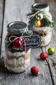 DIY Cranberry White Chocolate Cookies in a Jar