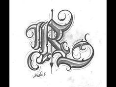 Letter R Tattoo, Tattoo Lettering Alphabet, Tattoo Lettering Design, Chicano Lettering, Script Lettering, Graffiti Lettering, Calligraphy Tattoo, Script Tattoos, Bubble Letter Fonts