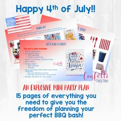4th of July Mini Party Plan • Confetti Party Plans