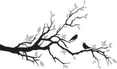 Linnut oksalla - Sisustustarrat