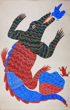 Jangarh Singh Shyam - from the Crites collection / part four Gond Painting, Silk Painting, Indian Contemporary Art, Art Brut, Madhya Pradesh, Mural Art, Easy Paintings, Tribal Art, Indian Art