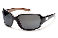 aae119b58e Suncloud Optics Cookie Sunglasses (Black Backpaint with Gray Polarized  Polycarbonate Lens) The glam of oversized movie-star style meets the  performance of a ...