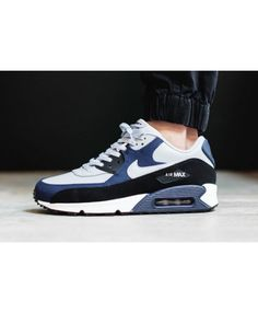 new concept 796a0 99225 Air Max 90 Leather Midnight Navy Trainer Nike Outfits, Fly Shoes, Kicks  Shoes,
