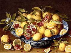Food Art: The Incredible Sensuality of Lemons and Pomegranates, painting by Gerard van Honsthorst.