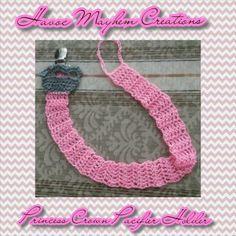 Crochet Princess Crown Pacifier Holder