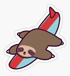 Baby Sloth, Cute Sloth, Laptop Stickers, Cute Stickers, Happy Stickers, Printable Stickers, Logo Sticker, Sticker Design, Candy Cane Decorations