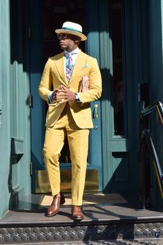 Summer Shandy - featuring the Guillaume collar shirt, summer cotton suit and customized Preppery ribbon straw hat...Dress well.   Contact Us Today: http://thepreppery.us/contact-us/  Photography By: @remeoner