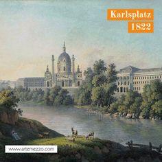 Die Karlskirche vor der Wien-Fluß Regulierung. #vienna #austria