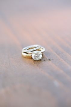 Engagement Ring - Classic, Timeless. See the wedding on Style Me Pretty: http://www.StyleMePretty.com/california-weddings/2014/02/27/classic-black-tie-durham-ranch-wedding/ Photography: Annie McElwain
