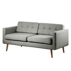 Sofa Croom I (3-Sitzer) - Webstoff - Grau