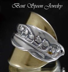 Spoon Ring  Antique Lily of the Valley 1892 by Bentspoonjewelry, $68.50