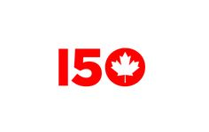 Canada 150th Anniversary Logo Alternatives • depicted: entry by Michael L'Ecuyer & Ruth Ann Pearce, Chatham, ON & Oakville, ON, Co-Designers