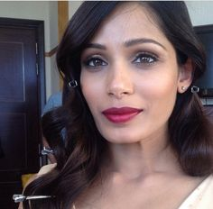 Frieda pinto at Cannes makeup by Charlotte willer