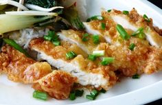 *Lemon Chicken Asian Style.  The batter and sauce could easily be used on fish too.  used chicken tenderloins that was pounded thin instead of chicken breasts.  Better chicken/batter/sauce ratio!