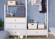 Ikea ankleidezimmer ~ Making room for guests with the elvarli open storage unit by ikea
