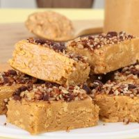 Thick And Nutty Peanut Putter Bars