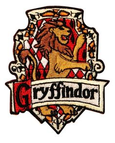 Gryffindor Hogwarts House Crest Harry Potter Embroidered Iron On Badge Applique Patch
