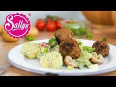 Sallys Rezepte - Pesto-Kartoffeln mit Käse-Frikadellen