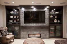 Bilick Basement Development - contemporary - media room - calgary - by Urban Abode Media room