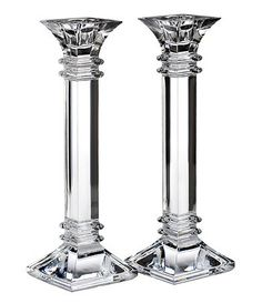 Treviso 10 inch Candlestick, Pair By Marquis by Waterford ~ The classic, architectural design of these stunning, solid candlesticks are a dramatic addition to a formal table setting. Candles not included. Architecture Classique, Classic Architecture, Waterford Marquis, Waterford Crystal, Square Columns, Crystals In The Home, Candle Holder Set, Candlesticks, Candleholders