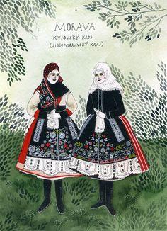 Moravian Costume (by Yelena Bryksenkova via Etsy)