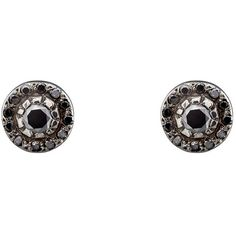 Ileana Makri Women's Circular Stud Earrings (102.945 RUB) ❤ liked on Polyvore featuring jewelry, earrings, no color, pave jewelry, 18k white gold earrings, white gold jewellery, 18 karat gold earrings and circle stud earrings