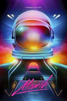 Atomik by Cristian M. Ruiz Parra, via Behance: retro futurism Vaporwave, Cyberpunk, 80s Sci Fi, 80s Neon, The Wombats, 80s Design, Type Design, Neon Aesthetic, Wave Art
