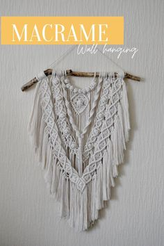 Be the hostess with the mostess and make your guests jealous with this beautiful handwoven Macramé Wall Hanging.   Made from super-soft cotton cord, this large wall hanging takes centre-stage in any space.   Visit our store for more information and to see our other Macramé creations! Quirky Decor, Large Macrame Wall Hanging, Natural Texture, Natural Living, Decoration, Hand Weaving, Etsy Seller, Natural Interior, Boho