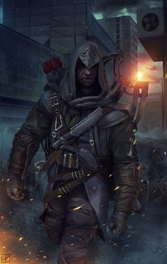 A vector illustration of poster of the game Assassin's creed 3 Assasians Creed, All Assassin's Creed, Fantasy Weapons, Fantasy Warrior, Roman, Assassins Creed 3, Cyberpunk Art, Action Poses, Markiplier