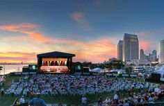 Enjoy San Diego summer weather, ocean views and a live music concert....what more could you want?