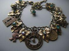 Alice in Wonderland Jewelry - Charm Bracelet - Victorian Jewelry