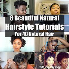 8 Beautiful 4c Natural Hairstyle Tutorials                                                                                                                                                     More