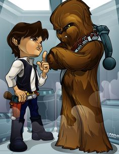 Lil Han and Chewy by *lordmesa