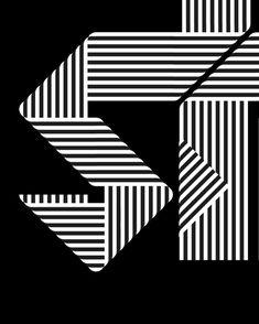 Sergi Delgado — [TYPOGRAPHY EXPLORATION] exploring with stripes... Op Art, Exploring, Typography, Stripes, Cards, Letterpress, Letterpress Printing, Explore, Maps
