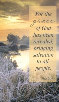 For The Grace Of God Has Been Revealed, Bringing Salvation To All People.