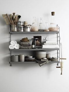 Josefin Hååg styled string pocket shelf: