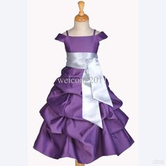 Wholesale CHILDREN FLOWER GIRL DRESS PLUM PURPLE SILVER WEDDING PAGEANT 2 4 6 7 8 10 12 14, Free shipping, $57.91/Piece   DHgate Mobile