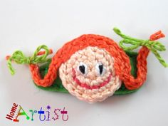 Haarspangen - Pippi Haarspange - freie Farbwahl - ein Designerstück von HomeArtist bei DaWanda
