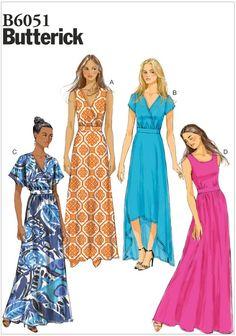 Misses Dress Butterick Pattern 6051.