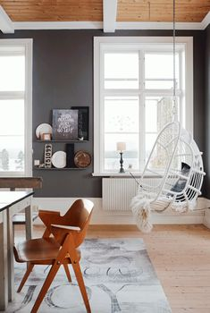 Swoon *except for the air-chair* Living in an old Swedish school