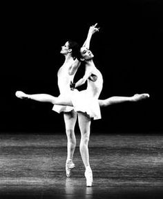 Merrill Ashley (left) and Lourdes Lopez perform Concerto Barocco with the New York City Ballet in the mid-1980s.