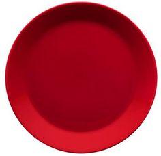Iittala punainen Teema-ruokalautanen