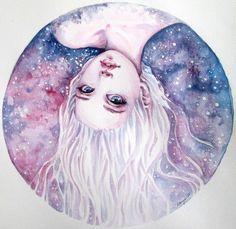 Картинка с тегом «art, galaxy, and hair»