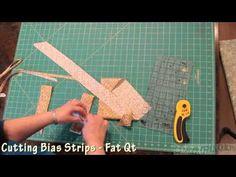 (149) Cutting Bias Strips - YouTube Quilting Tips, Quilting Tutorials, Quilting Projects, Sewing Tutorials, Sewing Projects, Sewing Crafts, Quilt Binding, Bias Binding, Quilt Patterns