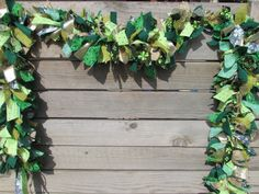 6' St. Patricks Day Garland- St. Patrick's Day Fabric Garland- Green and Gold Garland- St. Patricks Day Decor- Shamrock Garland- Fabric Swag by CreativeSpacesbyGina on Etsy https://www.etsy.com/listing/202814326/6-st-patricks-day-garland-st-patricks