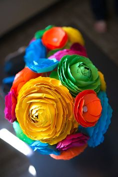Paper Ranunculus Flower Template by sunnyandstumpy on Etsy, $20.00