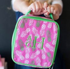 Excited to share the latest addition to my #etsy shop: Monogrammed Lunch Bag Pineapple Lunch Tote, Matching Items Available http://etsy.me/2BS1Pd1 #bagsandpurses #backtoschool #pinapplelunchbox #pinapple #lunchbag #pink #kids #womens #monogramed, Viv&Lou